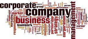 Company word cloud concept. Vector illustration