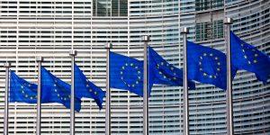 European flags in a row