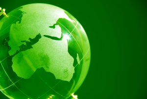 Green glass globe high resolution image