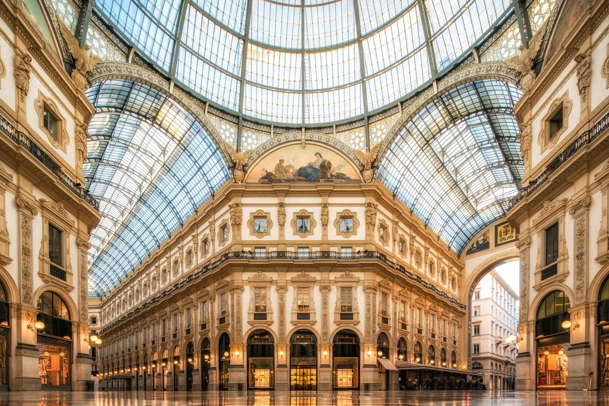 Milan, Galleria Vittorio Emanuele II, Shopping Mall, Italy, Europe